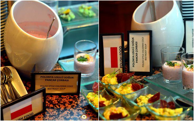 Polish dishes in Hilton Istanbul