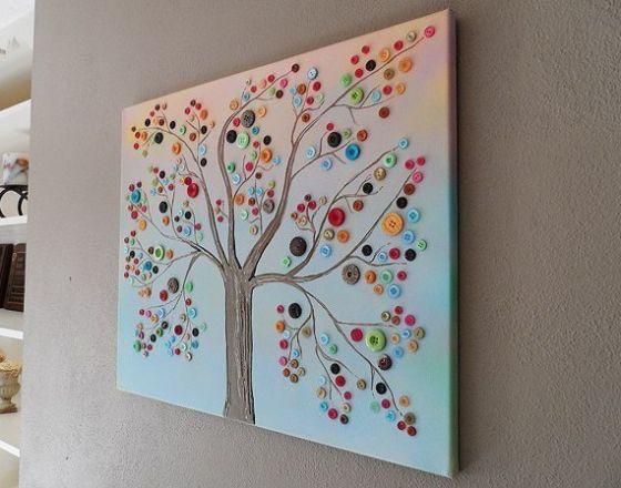 Este quadro com botões enfeitará de forma primorosa os seus ambientes (Foto: modishspace.com)