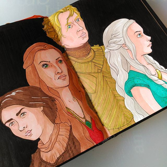 My favourite female characters from Game of Thrones  #got #gameofthrones #winteriscoming #game #draw #drawing #art #sketch #illustration #artwork #sketchbook #artist #sketching #instaart #instadraw #series #tvshow #women #woman #ladies #strong #brave #courage #beautiful #inspiration #freedom #independent #girlpower #khaleesi #stark