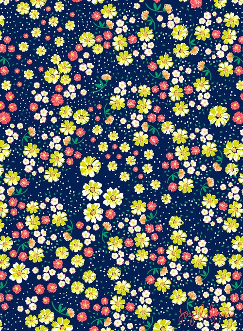 Wild Floral Ditsy in Navy