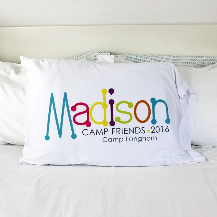 Send them to camp with a custom printed pillowcase. At the end of the summer, they can have all their friends sign their names on it. Makes a great year-round reminder of their special time away at camp.
