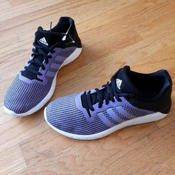 Yeezy for Adidas  NWT Adidas Women s Shoes Black   Purple Adidas CC fresh 2  Running shoes. It s crafted 38308f9cd