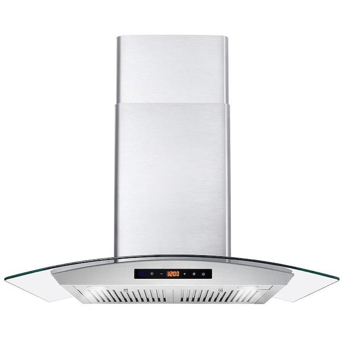 Cosmo 30 In Ducted Stainless Steel Wall Mounted Range Hood Lowes Com In 2020 Wall Mount Range Hood Range Hood Steel Wall