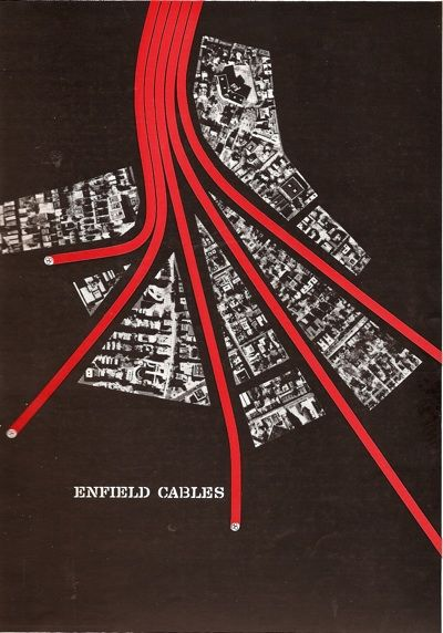 trade ad for Enfield Cables by Saul Bass (early 1950's)