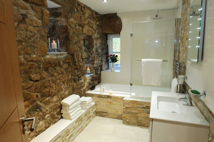 Luxury eco self catering close to padstow luxury self for Barn conversion bathroom ideas