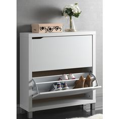 Baxton Studio 'Marsha' Modern Double Shoe Cabinet - Overstock™ Shopping - Great Deals on Baxton Studio Other Storage