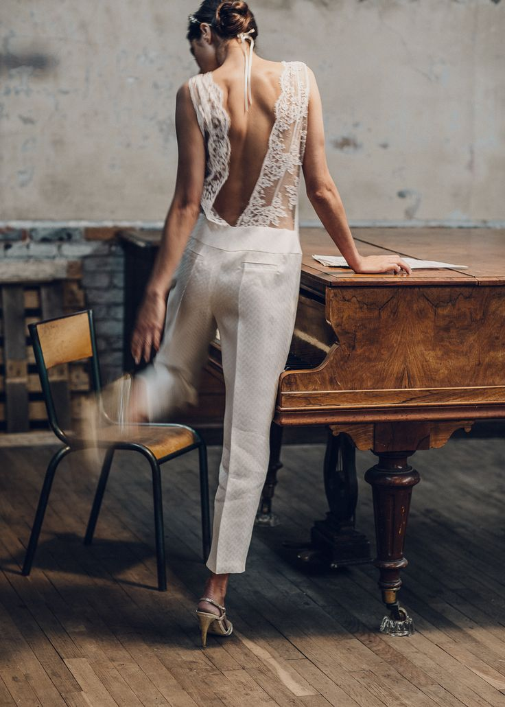 Laure de Sagazan / Pants Suit/ Civil Ceremony / View more: http://thelane.com/brands-we-love/laure-de-sagazan