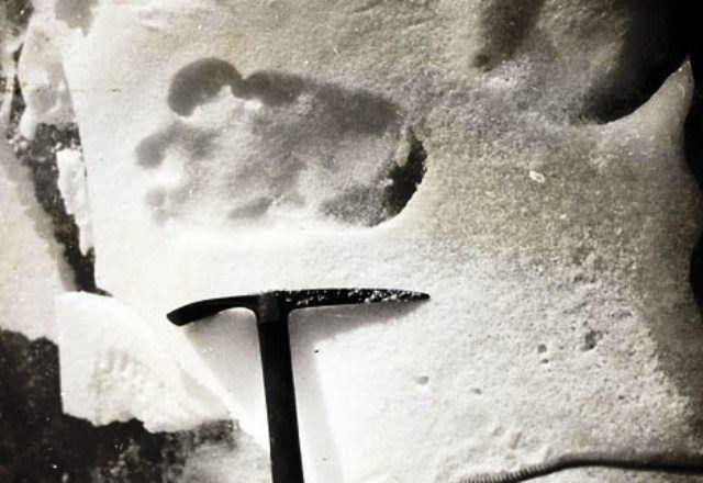 Η φωτογραφία με τις πατημασιές του χιονάνθρωπου των Ιμαλαΐων, που ξεσήκωσε τον κόσμο το 1951.