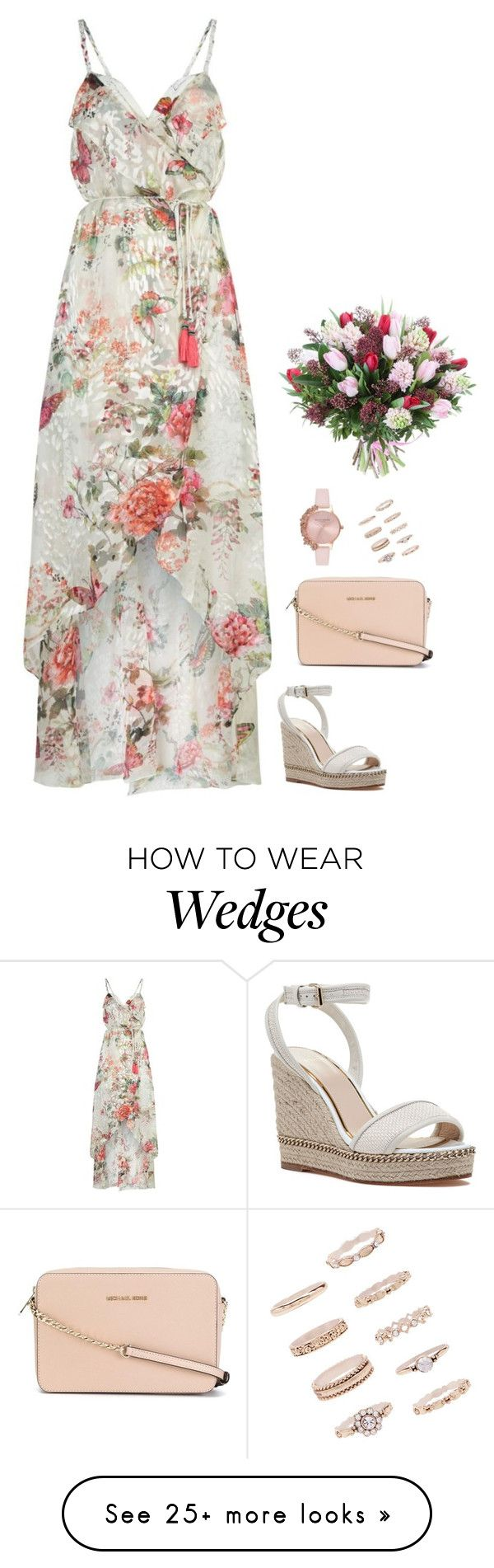 """""""#7444"""" by azaliyan on Polyvore featuring Hale Bob, Lanvin, MICHAEL Michael Kors, Olivia Burton and Forever 21"""