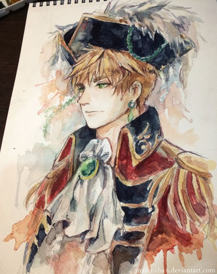 Pirate!England by Mano-chan on deviantART. Iamsoin lovewiththiswatercolouryoudontevenknow.