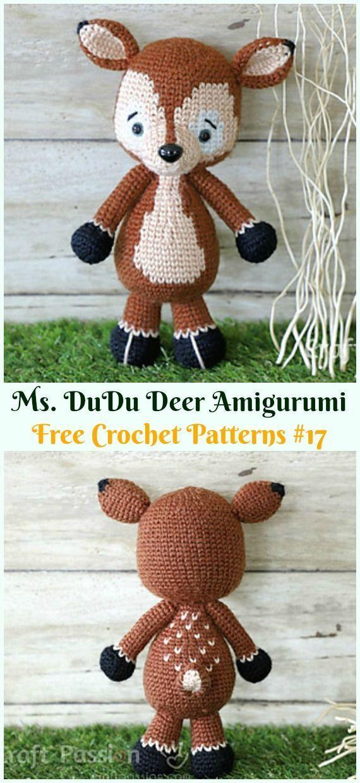 Crochet Patterns Amigurumi Ms Dudu Deer Crochet Free Pattern