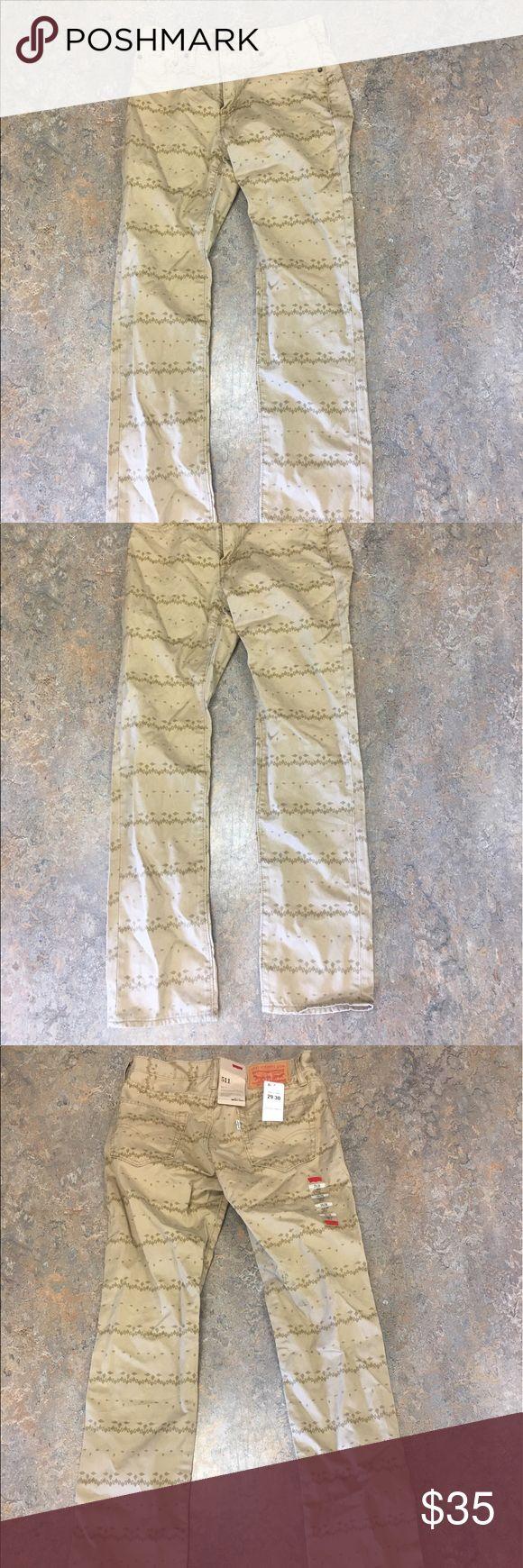 Levi's 511 Slim Fit Tribal Tan 29x30 Men's Jeans Levi's 511 Slim Fit Tribal Tan 29x30 Jeans. Levi's Jeans Slim