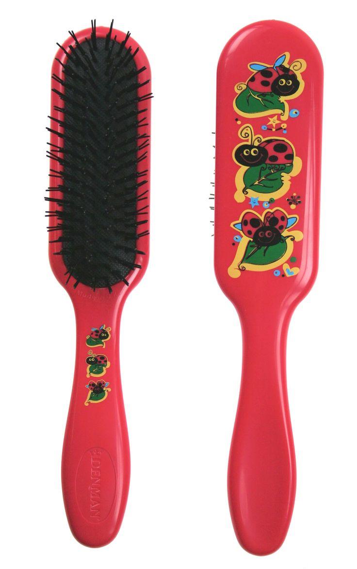 Denman Ladybird Tangle Tamer Brush. #Ladybird #TangleTamer #Detangling  http://www.denmanbrush.com/acatalog/D90-Ladybird-Tangle-Tamer.html