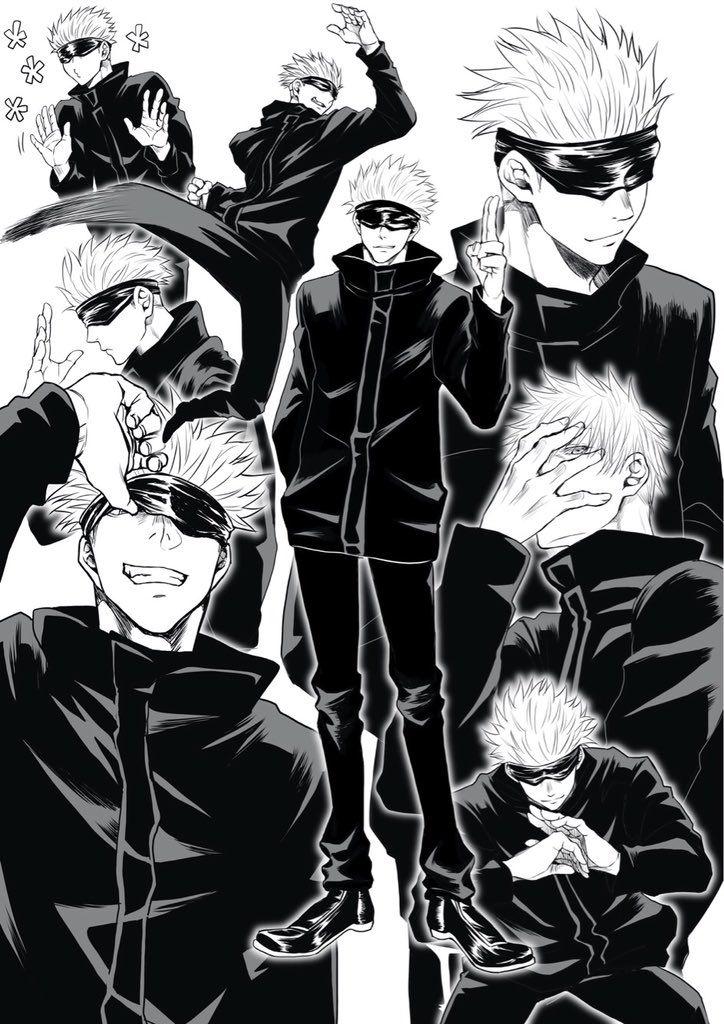 Satoru Gojo Jujutsu Kaisen en 2020 Kaisen, Dibujos