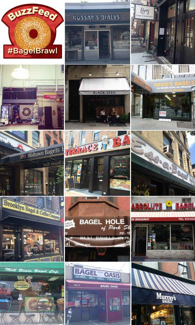 BuzzFeed Food editors gathered bagels from 14 top-rated bagel shops all over Manhattan, Brooklyn, and Queens.