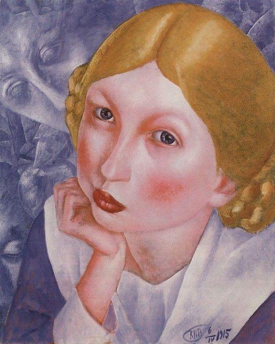 Портрет Рии (Портрет А. А. Холоповой). 1915. Петров-Водкин Кузьма Сергеевич (1878-1939)