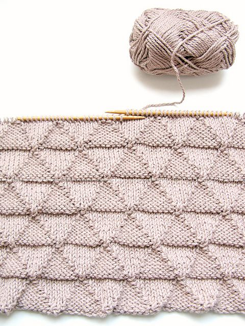 Lovely triangle knitting by emma lamb