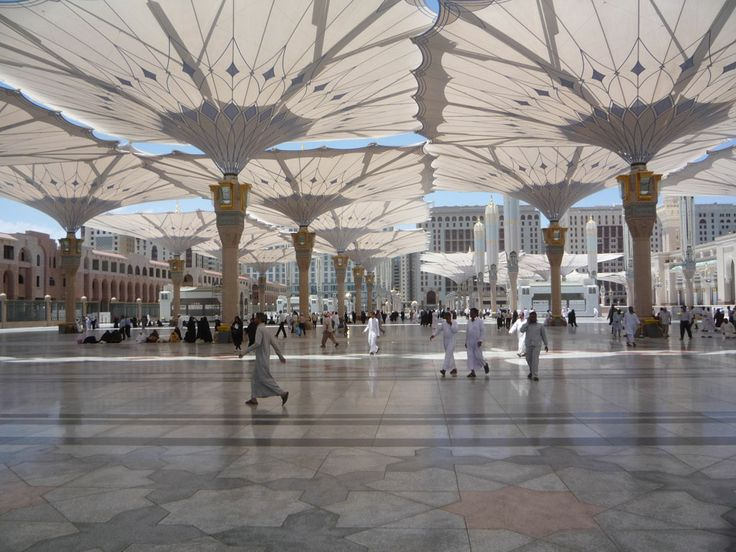 Umbrellas For The Piazza Of The Prophet S Holy Mosque In
