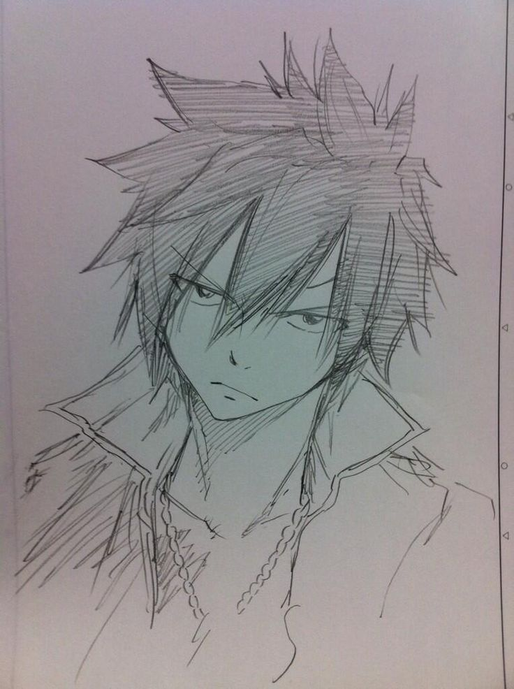Gray Fullbuster - Fairy Tail OHHHHHHHHHHHHHHHHHHHHHHHHHHHHHH I HAVE GOT TO LEARN TO DRAW HIM!!