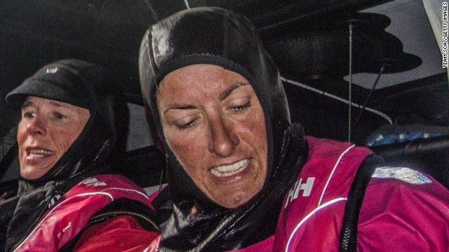 One of the great women sailors/yachtswomen of all time. Dee Caffari has joined Team SCA for leg 2 of the Volvo Ocean Race from Cape Town to Abu Dhabi. Caffari is the first woman to have sailed single-handed, non-stop around the world in both directions.