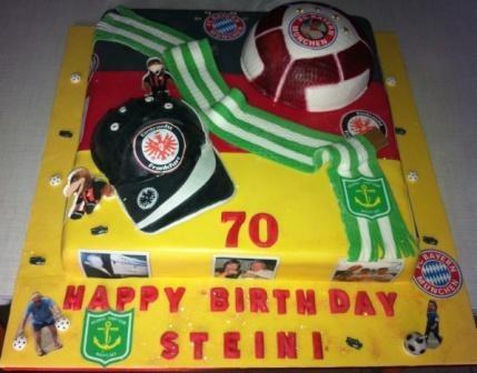 Bayern Muenchen Soccer Themed Cake , FC Stuttgart und Atlantis Fussball Birthday Cake