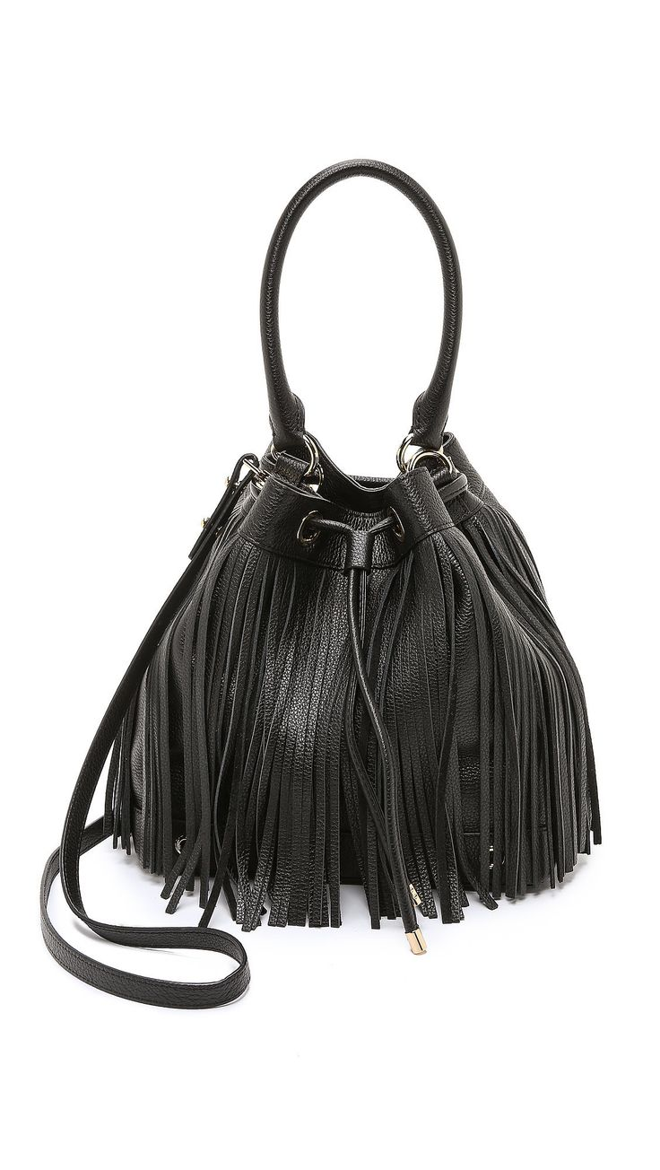 Why we love it: '70s-inspired style isn't just for festivals anymore. The trend is back in a big way — even more so this Fall — and we're crowning fringed-anything somewhat of an investment piece. The extra bits of material are a great way to add some flair to even the most ordinary of outfits. Milly Essex Drawstring Fringe Bag ($435)
