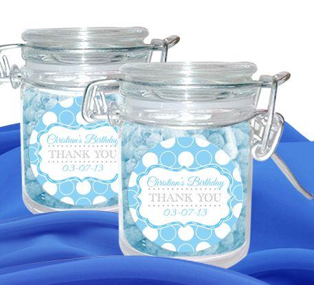 Polka Dot Personalised Candy Jars Set Of 12