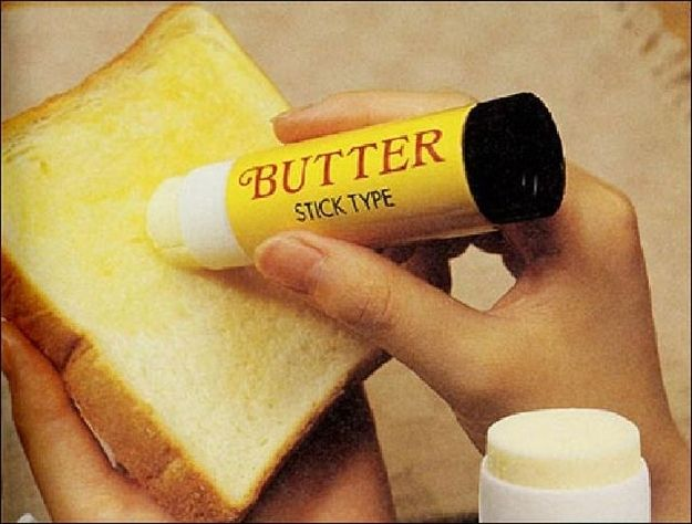 Butter in a glue stick tube (and 19 other inventions that might secretly be awesome) via Buzzfeed #BensSkinSweep