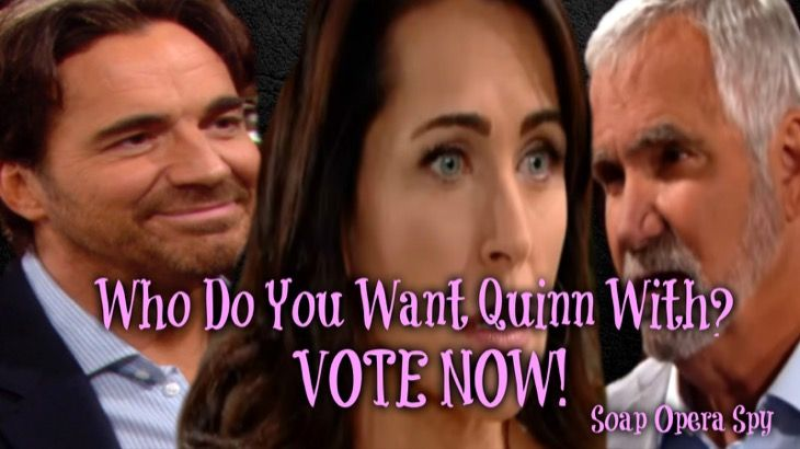 The Bold and the Beautiful's Quinn Fuller Forrester (Rena Sofer) has been playing the field a little. She is married to Eric Forrester (John McCook) but has been making out with his son Ridge Forrester (Thorsten Kaye) behind closed doors. So our question to you is who do you want Quinn with Eric or