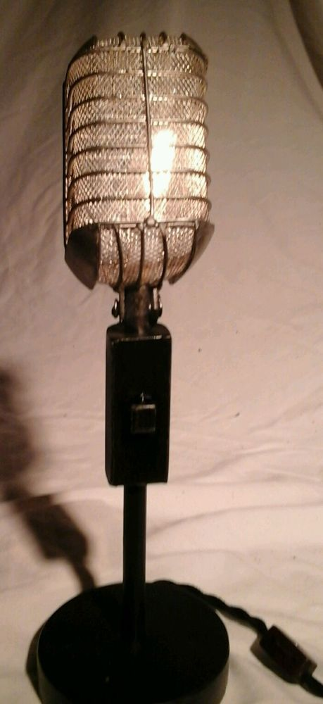 12 best vintage lamps of the masters light images on pinterest vintage handmade steampunk microphone table lamp 5500 new in home garden lamps lighting aloadofball Image collections