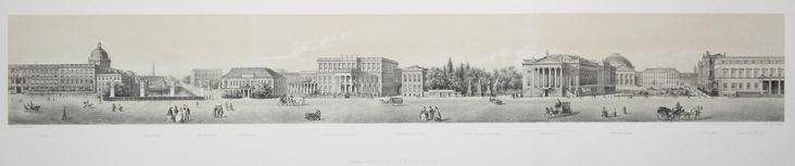 Lithographie m. Plaque d'argile v. Meinhardt (impression Berg & Haun) b. F.W. Marteau dans …