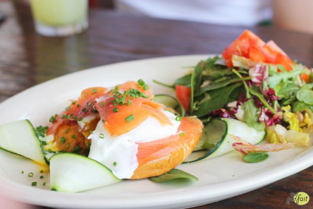 smoked #salmon #eggs benedict :: Mauro Cafe at Fred Segal, Los Angeles