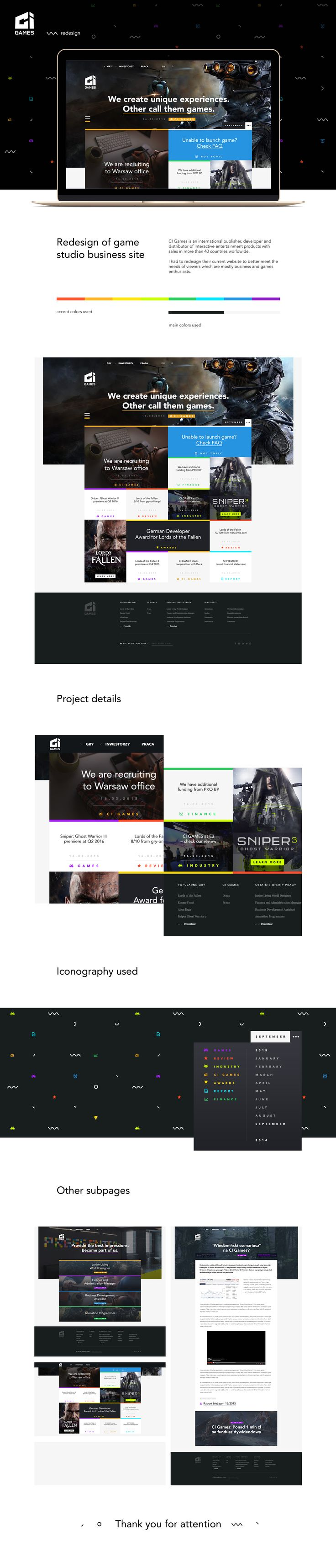 CI GAMES - Redesign on Behance