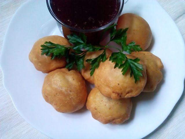 magiczna kuchnia Kasi: Racuszki nadziewane mięsem
