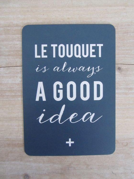 """Image of Nouvelle Carte """"Le Touquet is always a good idea"""""""
