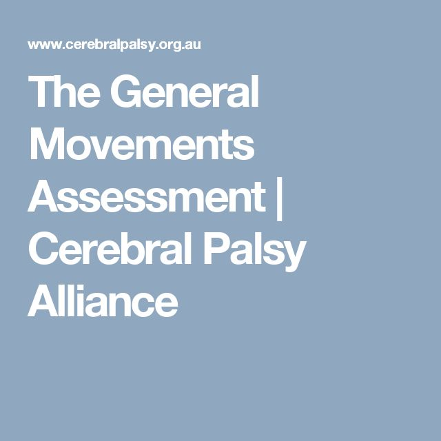 The General Movements Assessment | Cerebral Palsy Alliance