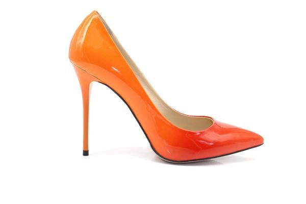 Stylish Shoes - Ombre Orange High Heels
