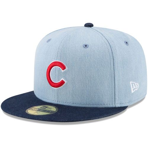 72585c2b630 Men s Chicago Cubs New Era Denim Navy Levi s Two-Tone 59FIFTY Fitted Hat