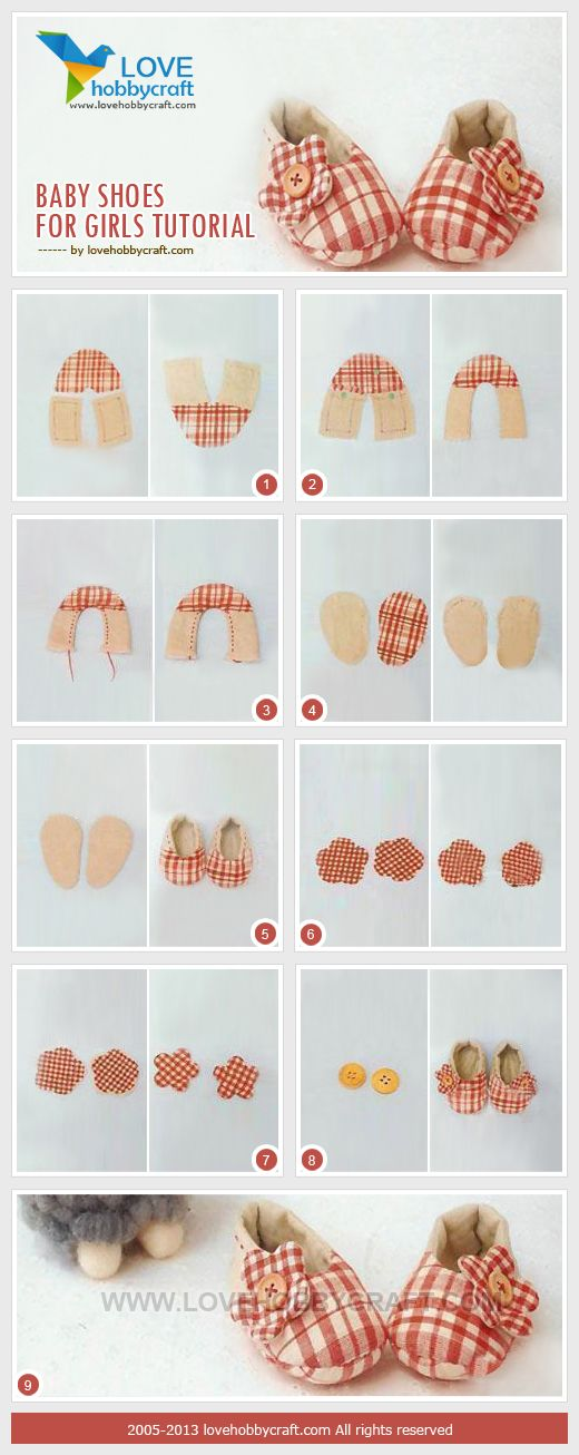 for kids diy: baby girl shoes