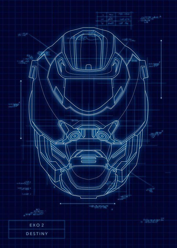 Mejores 73 imgenes de killzone trilogia en pinterest arte video game protagonist helmet blueprints destiny exo 2 displate artwork by artist mr malvernweather Choice Image