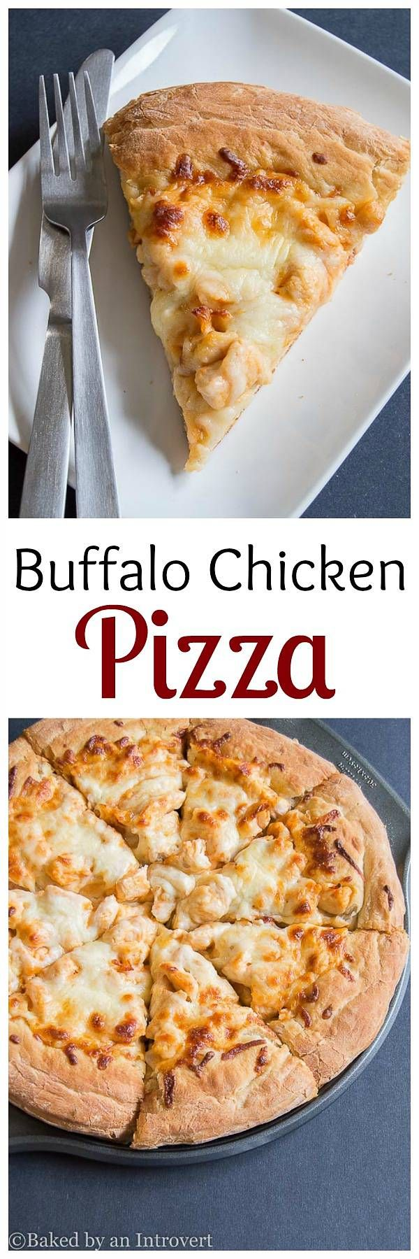 We love spicy food, so we decided to create our own Buffalo Chicken Pizza recipe, and it is the simplest and tastiest pizza!  via @introvertbaker