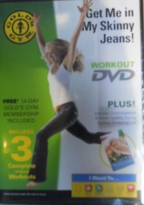 Gold's Gym Workout DVD Get me in My Skinny Jeans NIP #gymworkouts