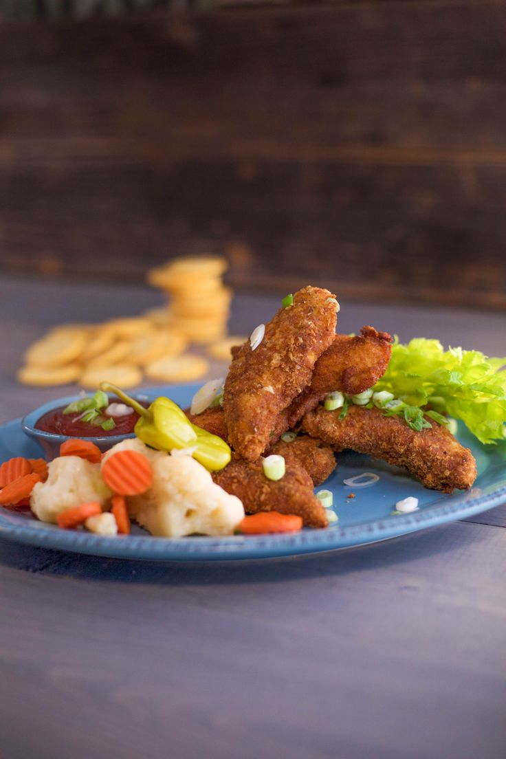 Ritz Cracker Chicken Fingers With Sriracha Soy Ketchup Finger Food That Both Kids And Grownups Ritz Cracker Chickenrachel Ray