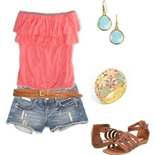 cute: Shoes, Summer Looks, Shirts, Color, Hot Summer Day, Tube Tops, Cute Summer Outfits, Cowboys Boots, Summer Clothing