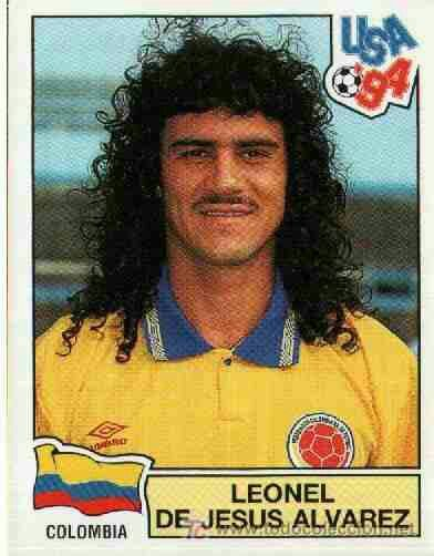 Leonel Alvarez of Colombia. 1994 World Cup Finals card.