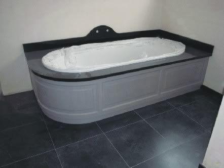 Hout in badkamer afwerking bad badkamer pinterest toverstokken - Ouderlijke badkamer ...