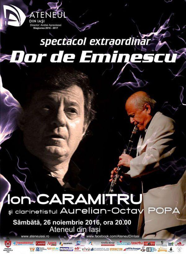 Spectacol extraordinar cu Ion Caramitru la Ateneul din Iasi