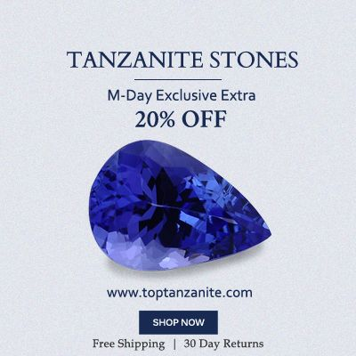 #MemorialDay 20% off on tanzanite stones at toptanzanite.com