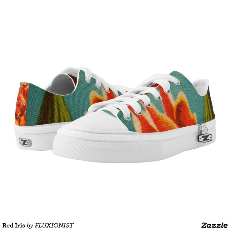Red Iris Printed Shoes - $88.00 Made by Delta Custom / Design: Fluxionist