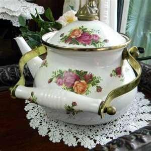 Royal Albert Enamelware Teapot ...
